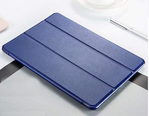 RZL Pad y Tab Fundas para iPad Air 2 A1566 A1567, Funda Protectora Utral-Slim Smart Plegable TPU Flip Smart Flip Funda para iPad Air 2 9.7 Pulgadas (Color : Navy Blue)