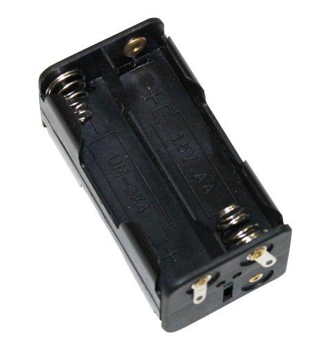 Aerzetix - Supporto Batterie - 4xAA LR6 - Enclosure per 4 pile o batterie spina presa Chassis - C3413