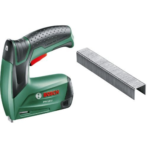 Bosch - PTK 3,6 LI – Grapadora + 2 609 255 821 - Grapa o 53 (pack de 1000)