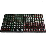 DYFYF Mahjong japonés Set, Negro Negro Azulejos con Vinilo Caso Conjunto de Palos de apuestas, y Dados - en versión preferida por la Asociación Europea de Mahjong