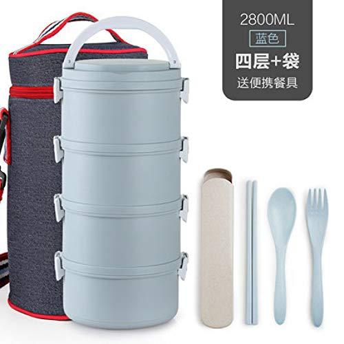 yylikehome Japanische Multi-Layer-PP-Kunststoff-Mikrowelle Heizung Kinder Lunchbox Portable versiegelt Lebensmittelbehälter Frauen Büro thermische Lunchbox Grau