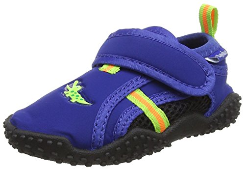 Playshoes Zapatillas de Playa con protección UV Cocodrilo, Zapatos de Agua Unisex niños, Azul (Marine 11), 20/21 EU