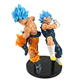 brandless 2 / Sets Anime Dragon Ball Z Super Saiyan Blue Hair Son Goku Vegeta vegetto Tag figthers P...