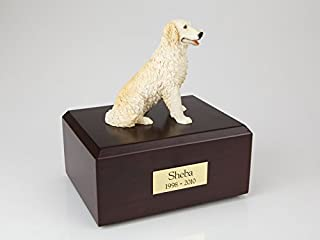 Ever My Pet Genuine North American Hardwood and Retriever Figurine Urn Golden Large