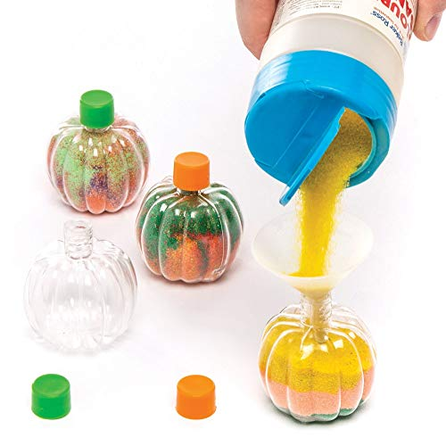 Pompoen Flessen met Zandkunst (6 stuks)