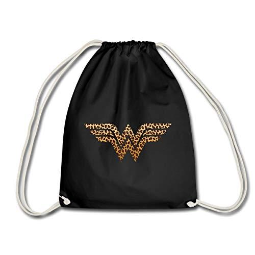 Spreadshirt Wonder Woman Logo Léopard Sac À Dos Cordon, noir