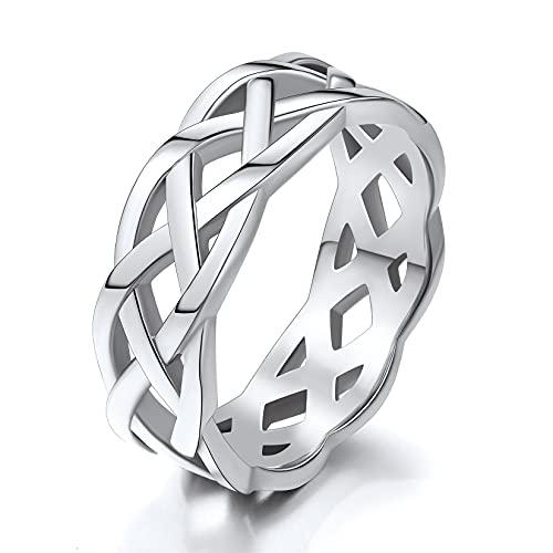 Celtic Ring Stainless Steel Men Size 10 Celtic Knot Trinity Band Rings Men