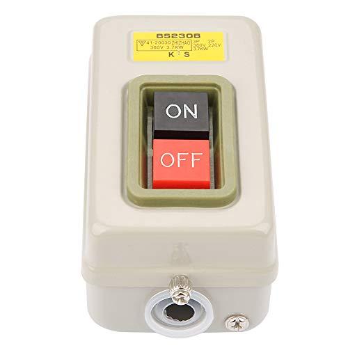 Yagosodee Interruptor automático de bloqueo 3P de encendido/apagado, AC 380 V, 3 7 kW, BS230B, color blanco