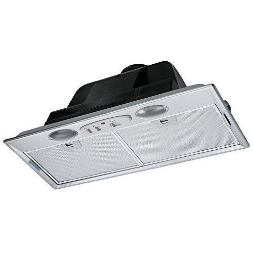 Franke FBI 512 ECO GR Groupe de ventilation en acier inoxydable Filtre à graisse en métal passant au lave-vaisselle Commande par commutateur coulissant 52,2 cm