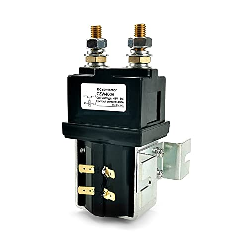 Jgzwlkj Contactor CZW400A DC Contactor Normalmente Abierto Corriente Continua Contactor para maquinaria de construcción Equipo de telecomunicaciones 1 2V 24V 36V 48V 60V 72V (Color : 36V)