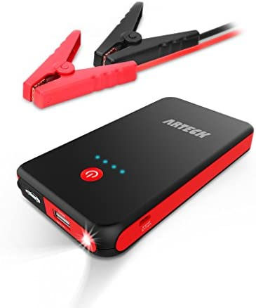 Arteck Car Jump Starter Auto Battery Booster and 8000mAh External Battery Charger Car Jumper product image