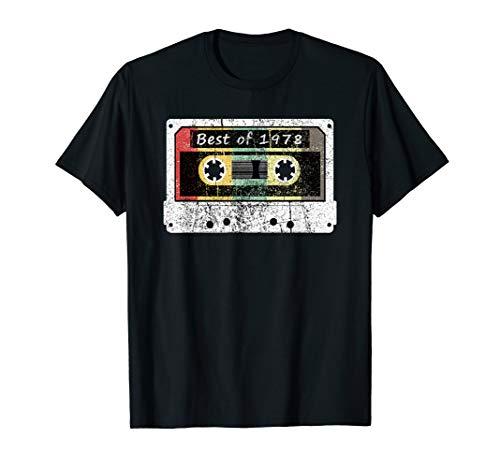 Best of 1978 Geburtstagshemd - Made In 1978 Vintage Cassete T-Shirt