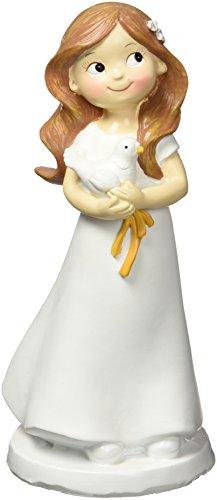 Mopec Y670.2–Figur für den Kuchen bei der Kommunion, Mädchen mit Taube, 1-er Pack