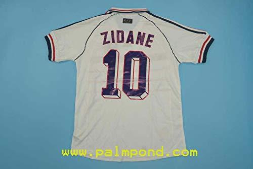 FM Zinedine Zidane France Away Retro Jersey 1998 (M)
