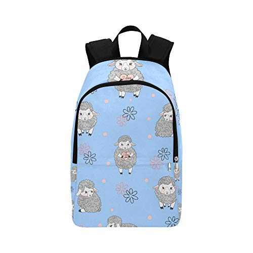 HZHENTIAN Best School Bags Cartoon Cute Funny Sheep Wild Animal Durable Water Resistant Classic Womans Backpack Crossbody Backpack for Women Women Daypack Children Hiking Bag