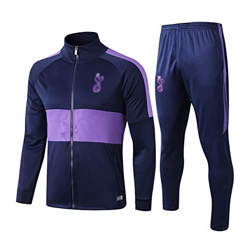Dauerhaft Fußball-Trainingsanzug Herren Langarm Sportanzug Jersey Purple - A1085 Beiläufig (Color : Purple, Size : S)