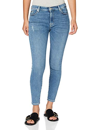 7 For All Mankind Womens Skinny Jeans, MID Blue, 30