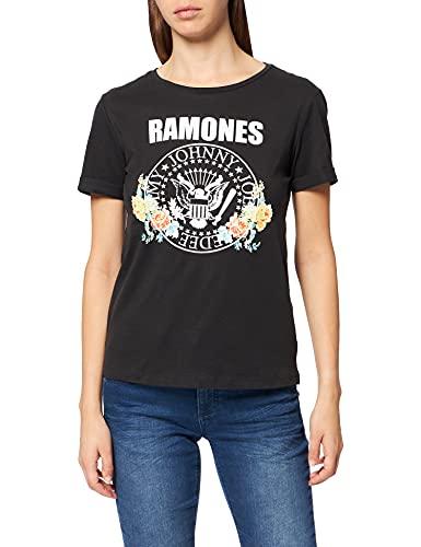 Springfield Camiseta Ramones, Negro, XL para Mujer