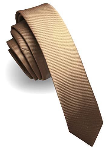 JEMYGINS Krawatte gold Krawatten für Herren seide schmale Hochzeit Schlips (2)