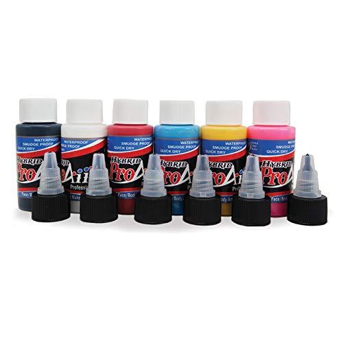 Face Painting Makeup - ProAiir Waterproof Makeup - 6 Primary Colors - 1 oz (30ml)