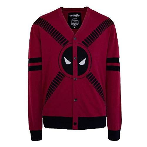 Marvel Deadpool Strap Logo Cardigan Trui | M
