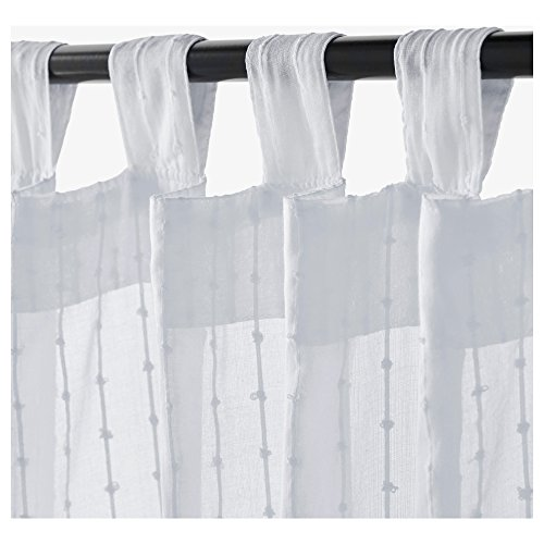 Ikea Matilda Sheer Curtains 1 Pair, White 101.119.84