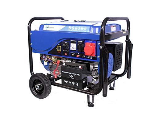 GOMECU Generador Electrico de Gasolina Trifasico/Monofasico 5,5Kw Motor 100% Cobre 4T