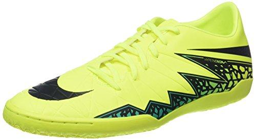 Nike Herren Hypervenom Phelon II IC Fußballschuhe, Gelb/Grün/Türkis (Volt Black Hyper Turq CLR Jade), 45 EU