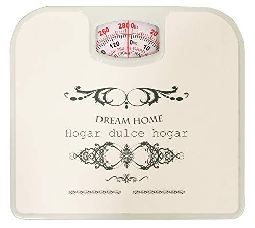 Dream Bath Spin Dial Mechanical Bathroom Scale, White