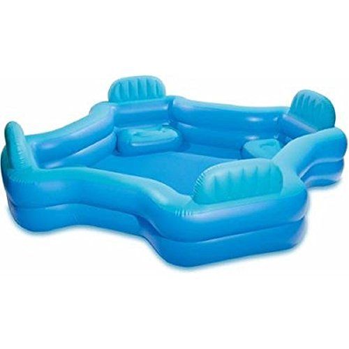 Intex Relax And Keep Cool 57191WL Swim Center Family Lounge Pool, Holds 221 Gallons Water, Blue