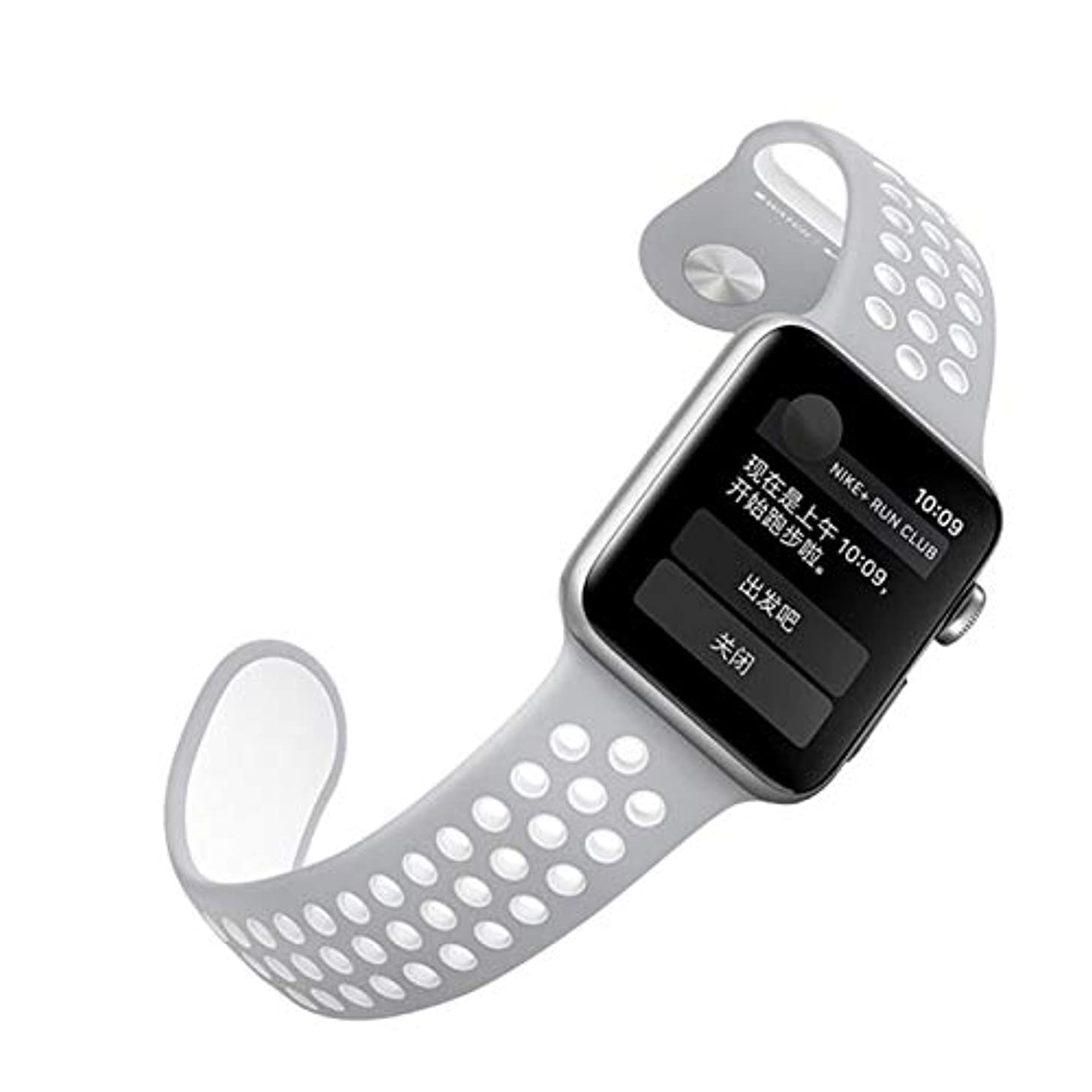 海洋アロング東Apple Watch 1/2/3世代用のマルチカラースタイリッシュでソフトで 軽量シリカゲルストラップ