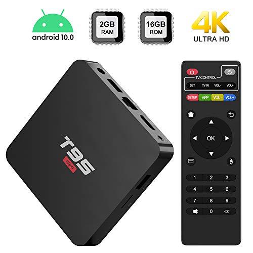 Android 10.0 TV BOX,T95 SUPER TV BOX 2GB RAM/16GB ROM Allwinner H3 Quad-Core Support WIFI/Ethernet 4K HDMI