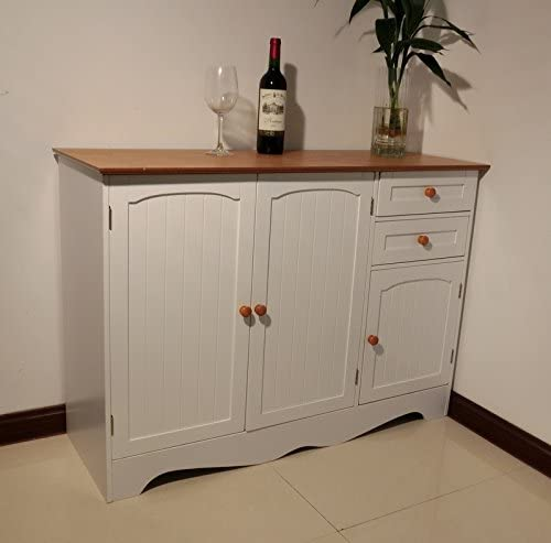 Homecharm-Intl Factory outlet 43.31x15.8x30.7 Inch Storage V with White Cabinet All items free shipping