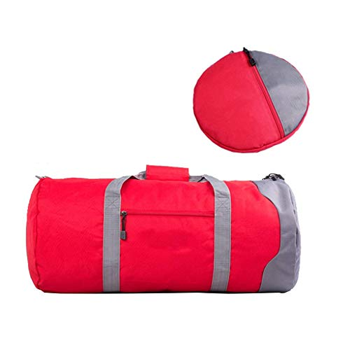 Yuang Reisetasche Aufbewahrungstasche Fitness Tasche Handgepäck Tasche Faltzylinder Leinwand Große Kapazität 76 * 35 * 35 cm (3 Farben) (Farbe: ROT)