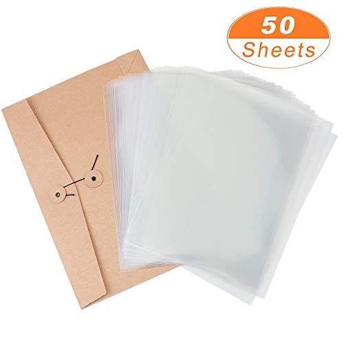 Meetory 50 Blatt Hochwertige Overhead Folien Transparent für Tintenstrahldrucker und Laserdrucker Kopierer OHP (DIN A4, 0,1 mm)