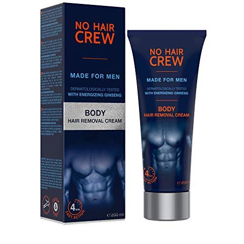 NO HAIR CREW Premium Enthaarungscreme für den Körper – gründliche und sanfte Haarentfernung für Männer, 200 ml