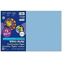Tru-Ray PAC103048BN Construction Paper Sky Blue 12 x 18 50 Sheets per Pack 5 Packs [並行輸入品]