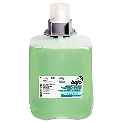 GOJO Green Certified Foam Hand, Hair & Body Wash, Cucumber Melon Scent, 2000 mL Refill for GOJO FMX-20 Push-Style Dispenser (Pack of 2) - 5263-02