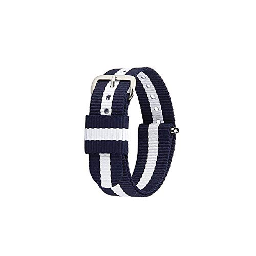 FJXJLKQS Correa de Reloj Bandas de Reloj de Repuesto de Liberación Rápida de Nailon Premium para Hombres y Mujeres, Correa de Reloj de Repuesto de Malla Transpirable,A-19mm