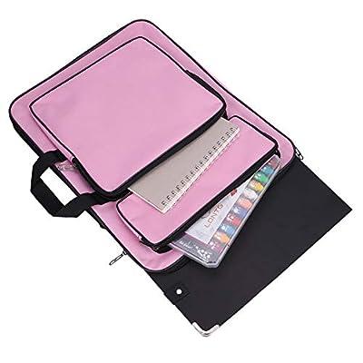 Art Portfolio Case A3 Artist Drawing Board Bag Waterproof Art Carrying Bag Portable Sketch Pad Storage Bag Artist Folder Case Tote Bag Shoulder Bag for Palette Paints Brushes Pencils by IBLUELOVER