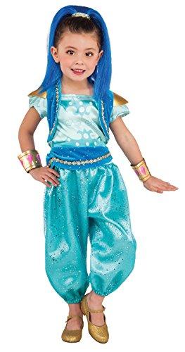 Deluxe Shimmer and Shine Shine kostuum voor meisjes