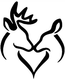 Pack of 3 Buck and Doe Kissing Stencils, 11x14, 8x10 and 5x7 Made from 4 Ply Matboard