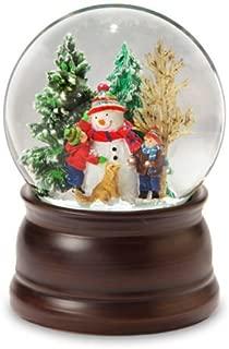 The San Francisco Music Box Company Snowman and Friends Snow Globe