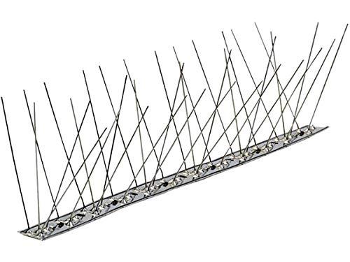 Dissuasore per piccioni in acciaio inox AISI 304 con 80 punte al metro made in Italy allontana tutti gli uccelli