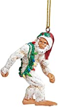 Design Toscano Bigfoot The Abominable Snowman Yeti Holiday Ornament, White