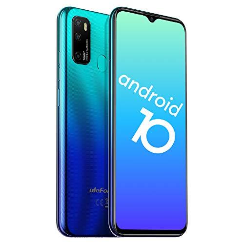 Ulefone Note 9P Smartphone ohne Vertrag - Android 10 Octa-Core Handy Dual-SIM 4GB+64GB 3in1 Kartensteckplatz 6,52 Zoll Bildschirm Verdreifachen Rückseite Kamera mit 5MP Makro-Objektiv(Blau)