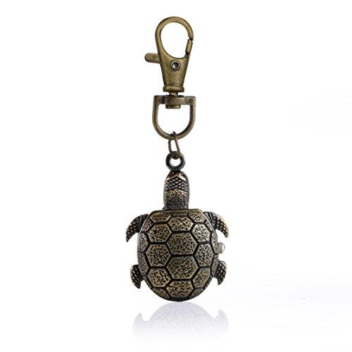 Retro-Stil Schildkröte Quarzanhänger mit Kette Messing Anhänger Taschenuhr Halskettenuhr