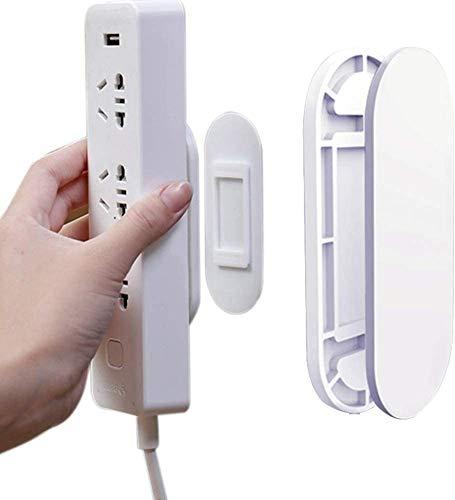 Regleta Enchufe de Energía, BONKEEY Soporte de Regleta para Montaje en Pared, Tira de Alimentación Autoadhesiva de Montaje en Pared, Power Strip Fixator, Tira Autoadhesiva, Apto para Regleta de Corriente/Router WiFi y Mando a Distancia (4 PACK)