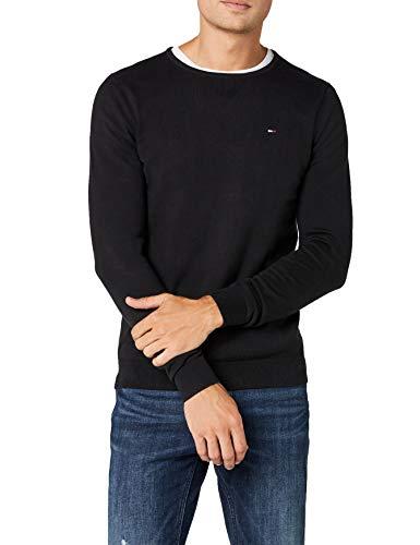 Tommy Hilfiger Original CN Sweater l/s Maglione, Nero (Tommy Black 078), Medium (Taglia Produttore:MD) Uomo