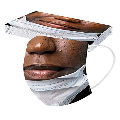 10 Stück Mundschutz Frauen Männer 3D...